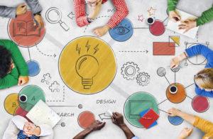 Diagrama criativo de planejamento
